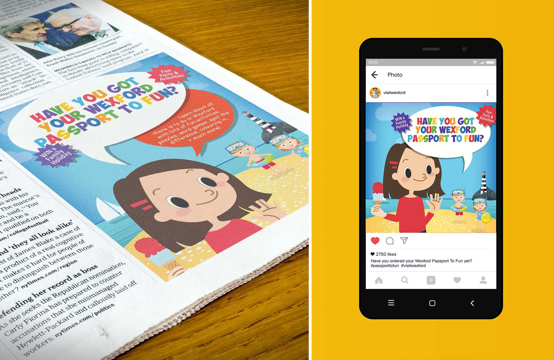 Visit Wexford Kids Book Adverising Collateral 2