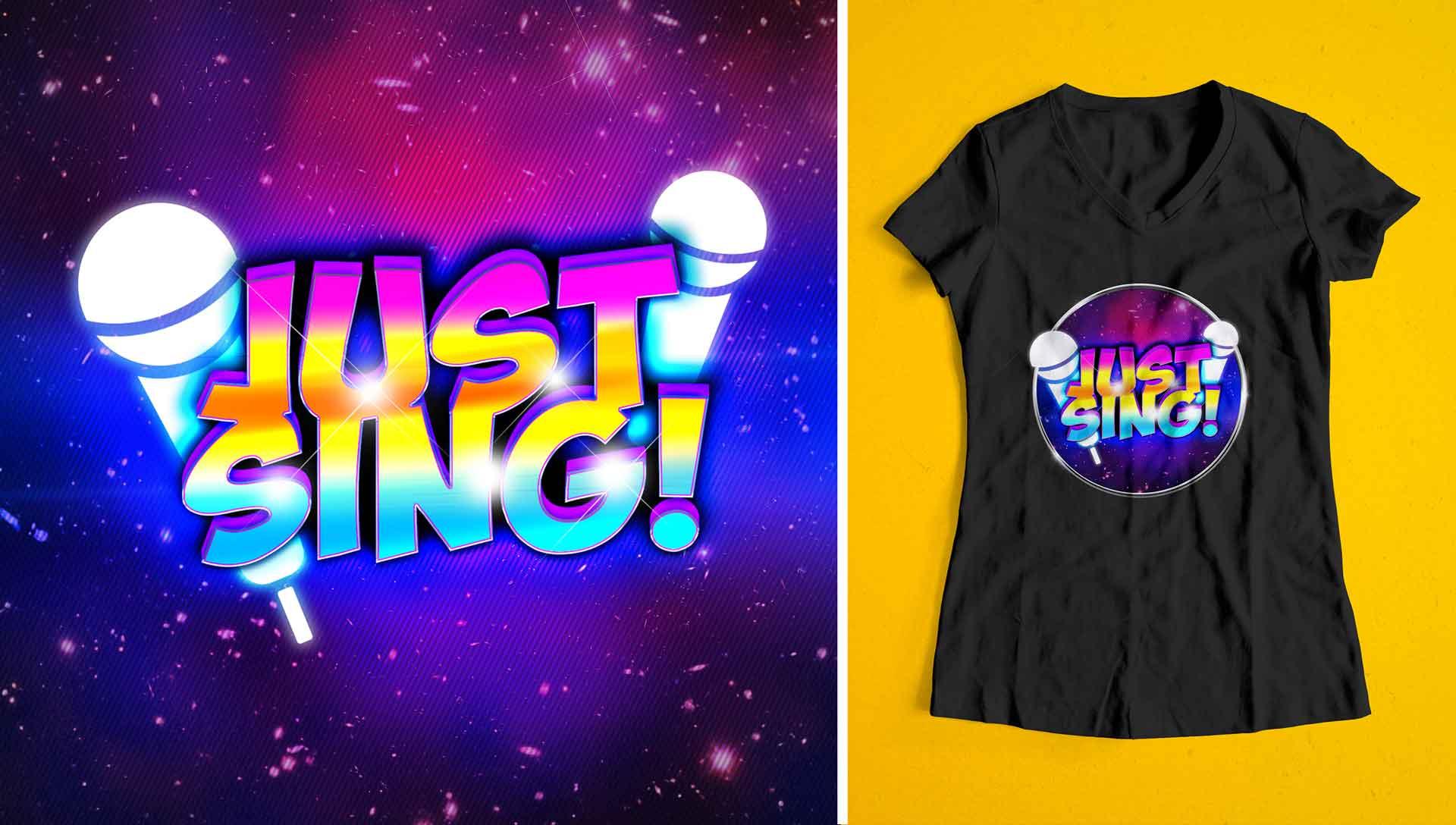 Justsing Logo With Tshirt