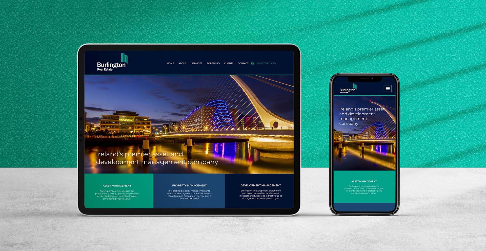Burlington Real Estate Website Header