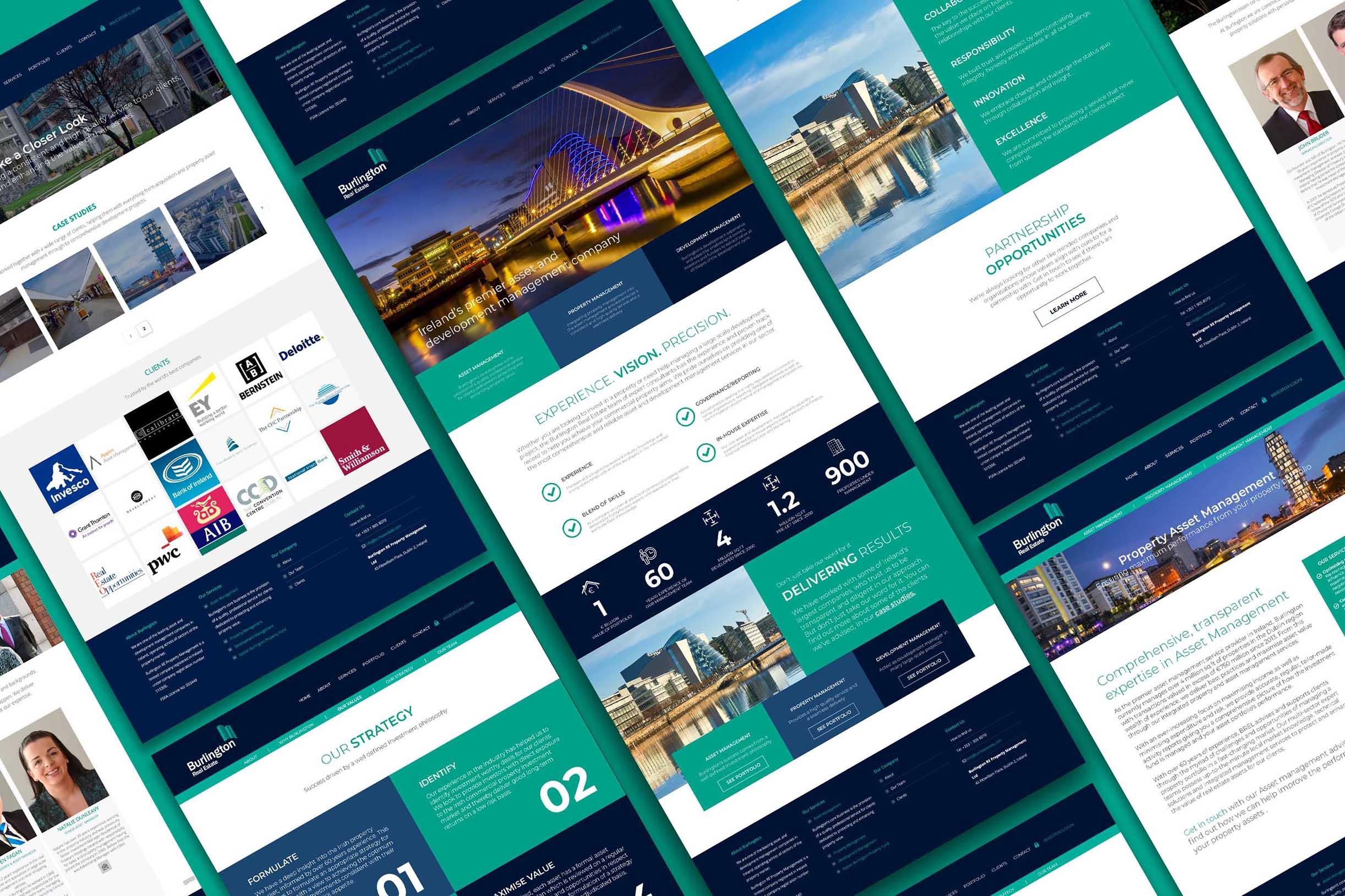 Burlington Real Estate Website Spreads