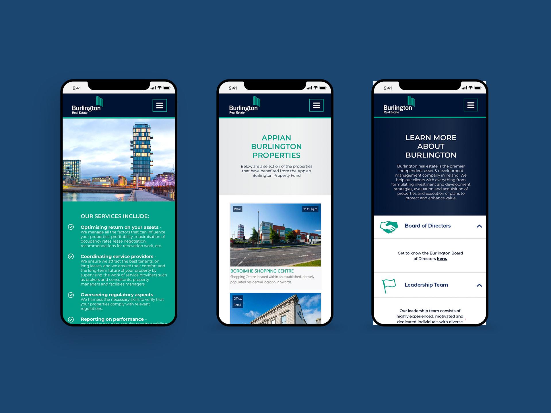 Burlington Real Estate Website Iphone