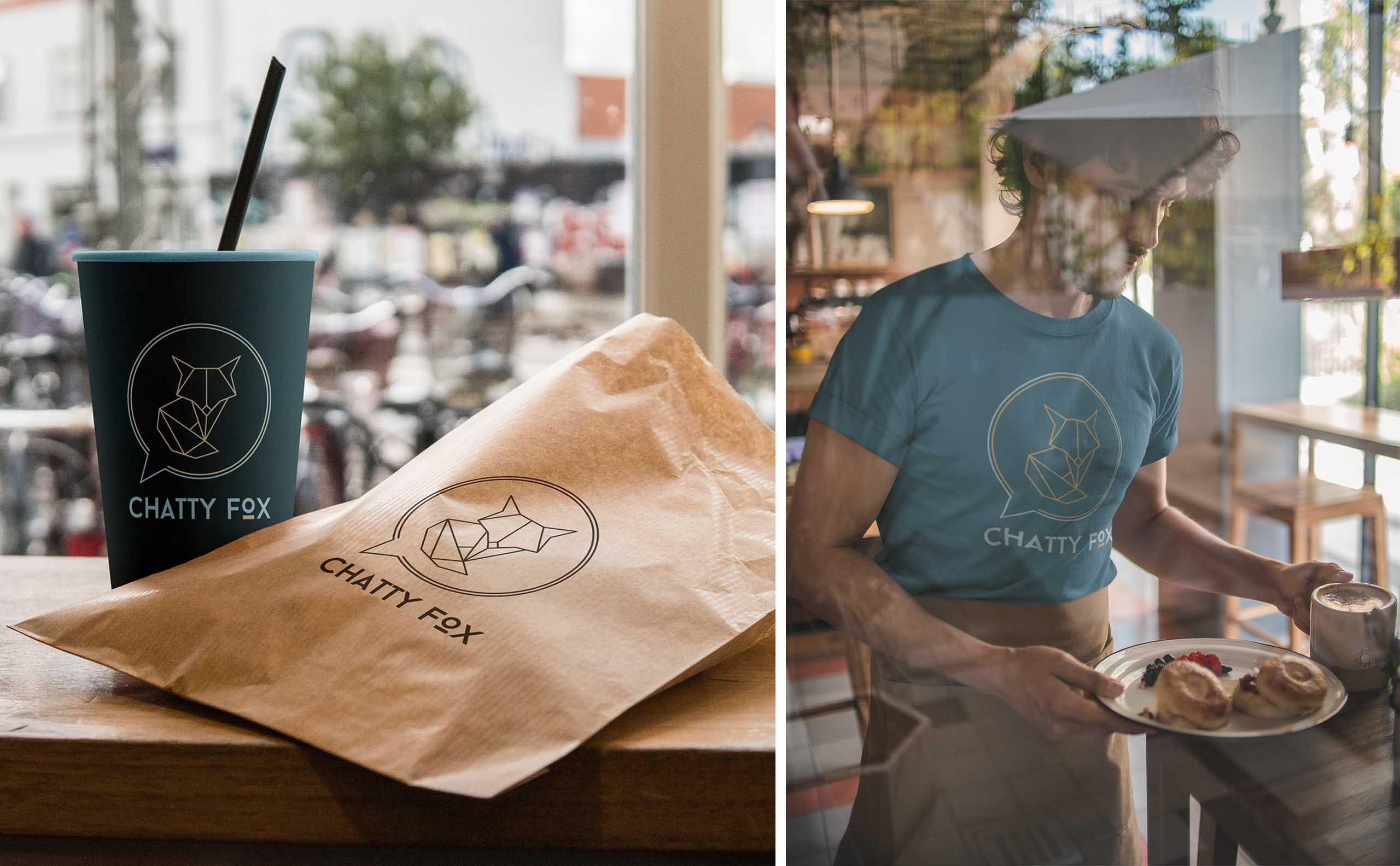 Chatty Fox Branded Coffee Cup Tshirt