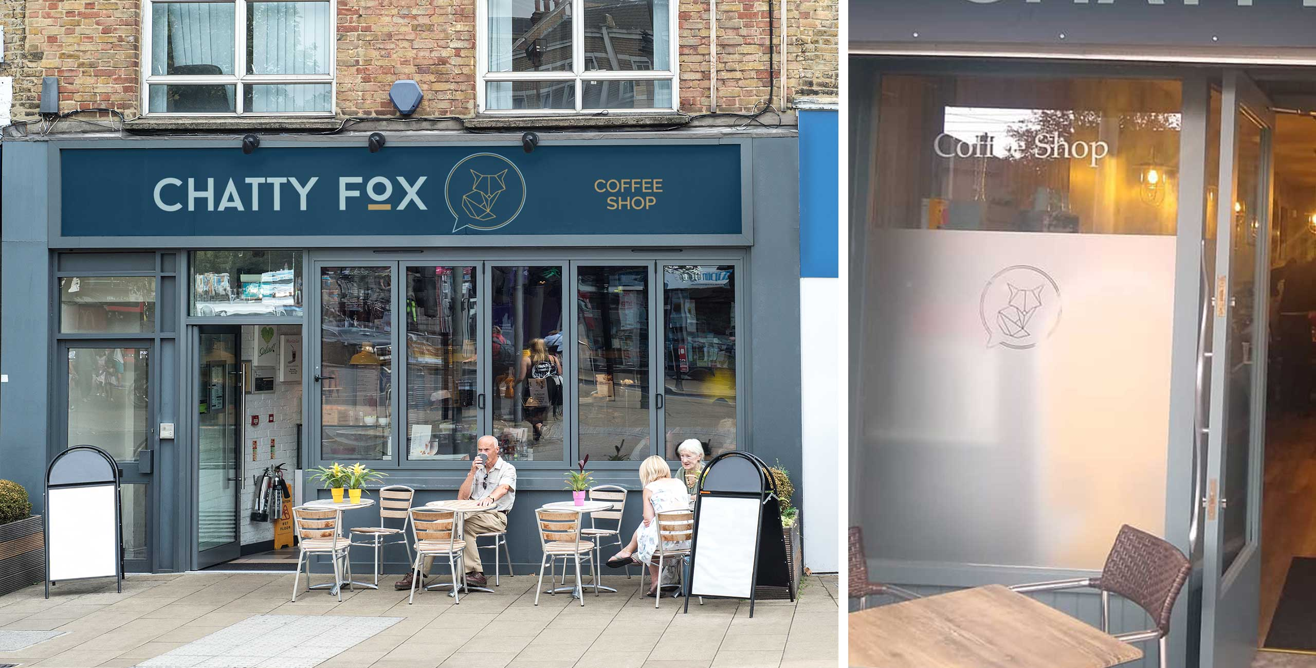 Chatty Fox Exterior Signage