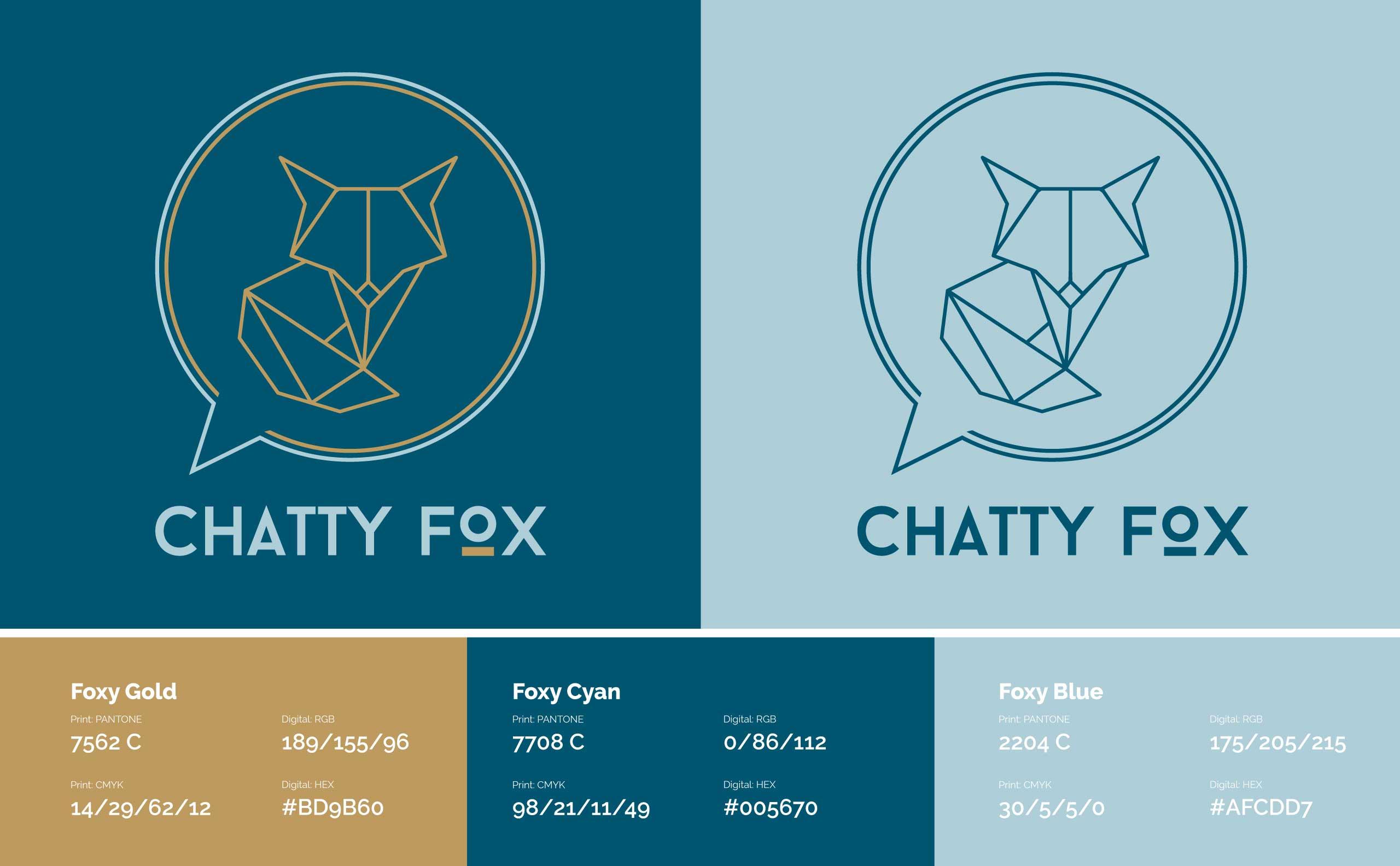 Chatty Fox Logo Design