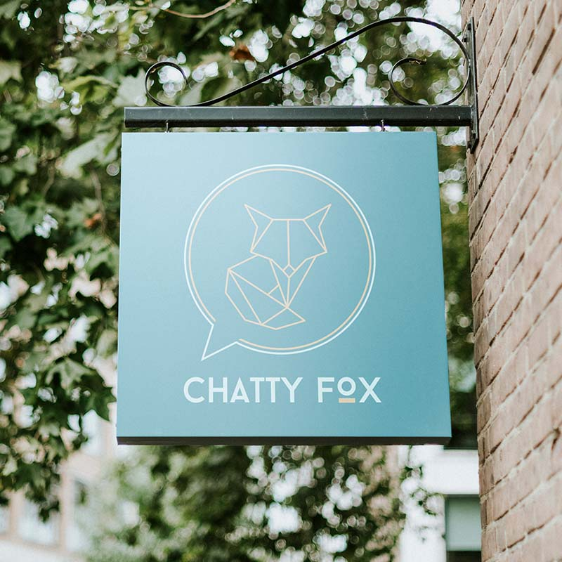 Chatty Fox Signage Square