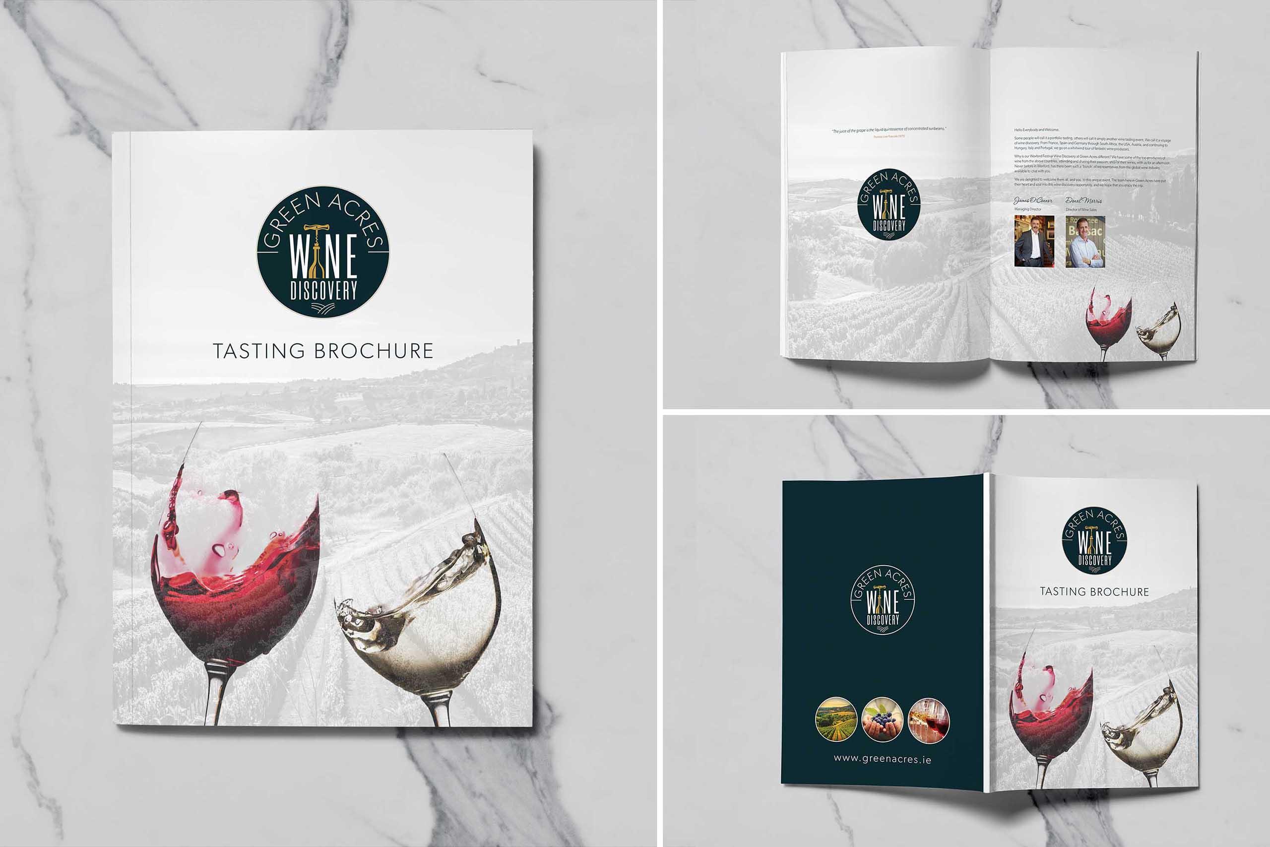 Green Acres Wine Tasting Brochure 01