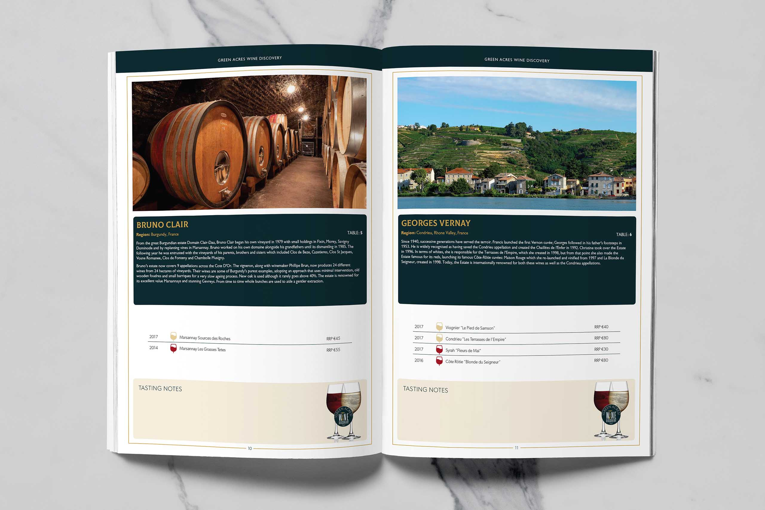 Green Acres Wine Tasting Brochure 02
