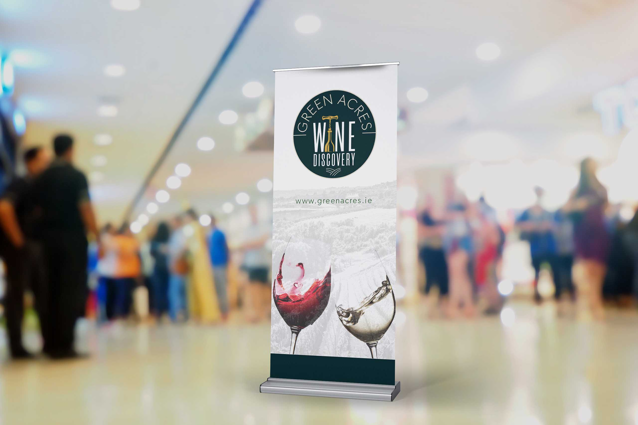 Green Acres Wine Tasting Pull Up Banner