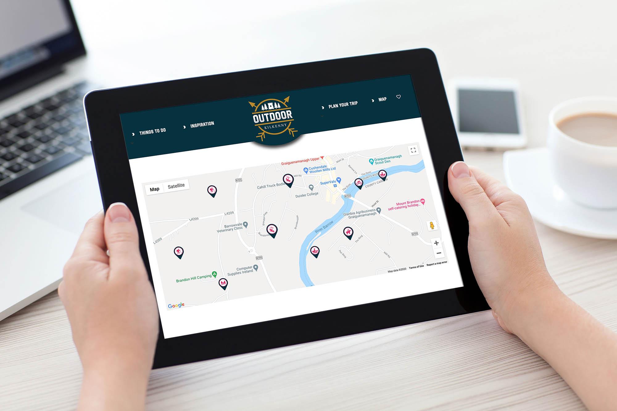 Øutdoor Kilkenny Web Design Map