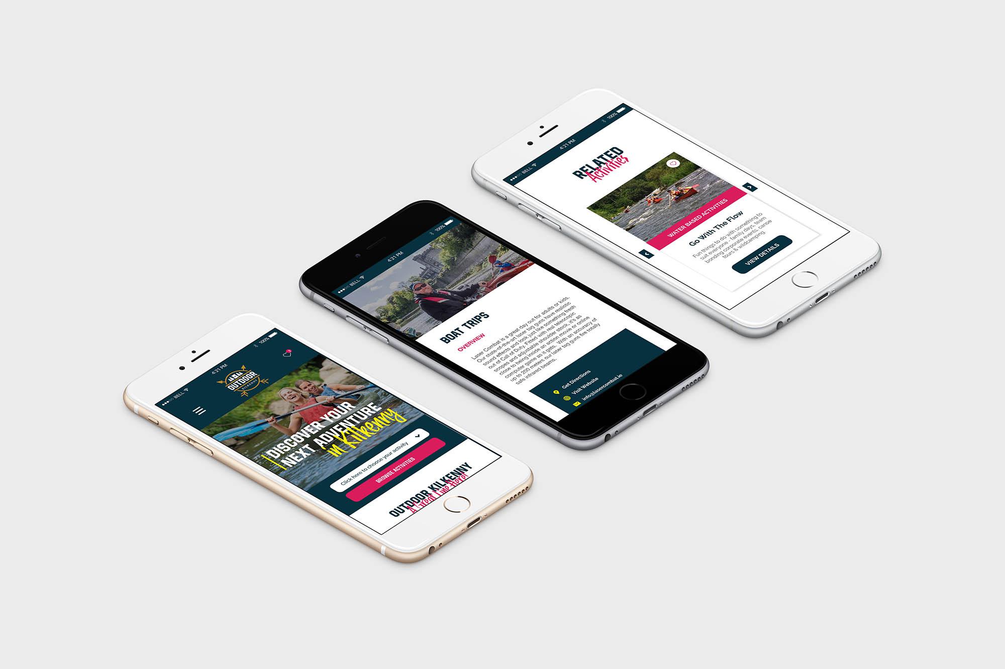 Outdoor Kilkenny Web Design Mobile Pages
