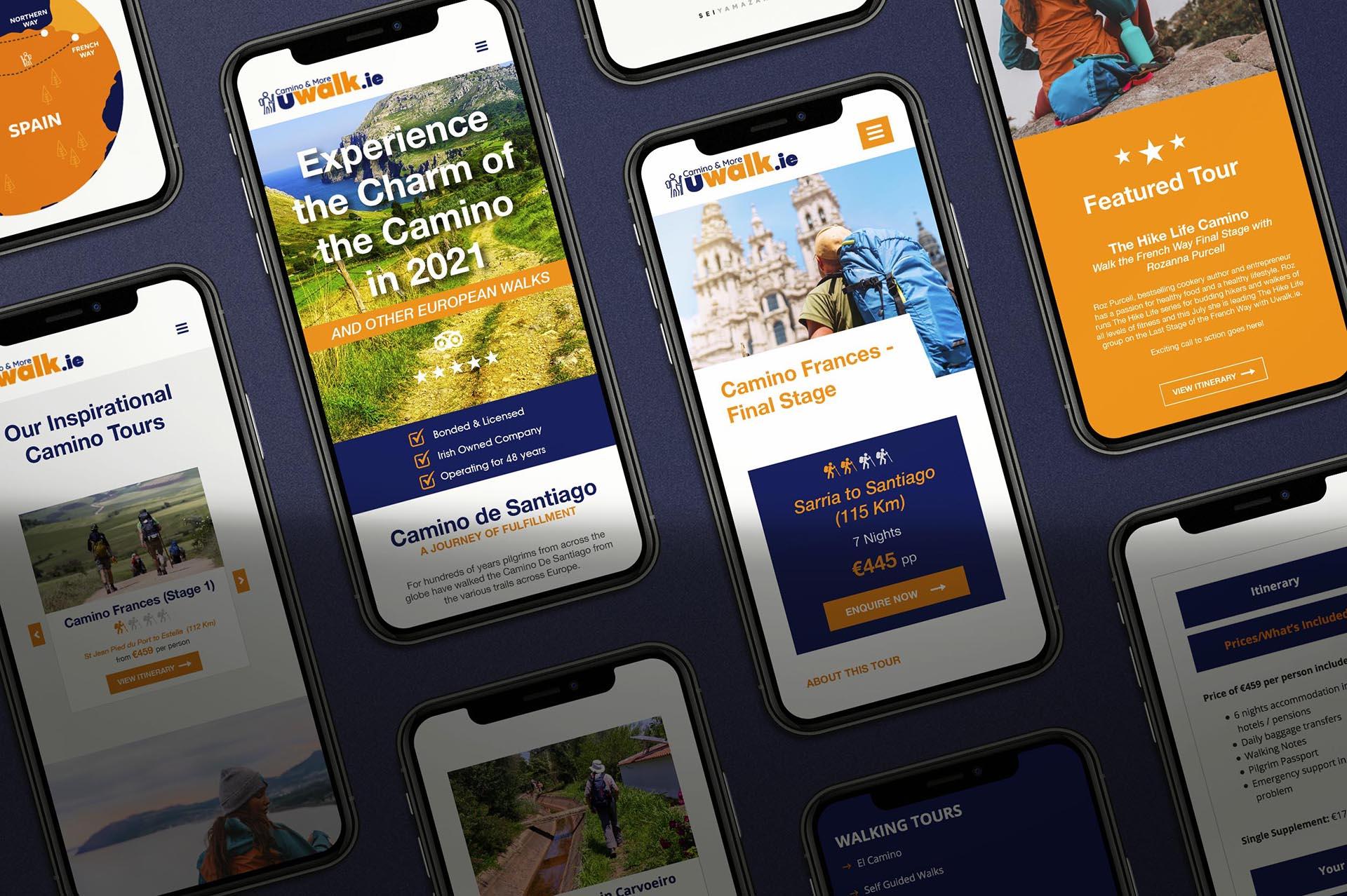 Uwalk Mobile Screens
